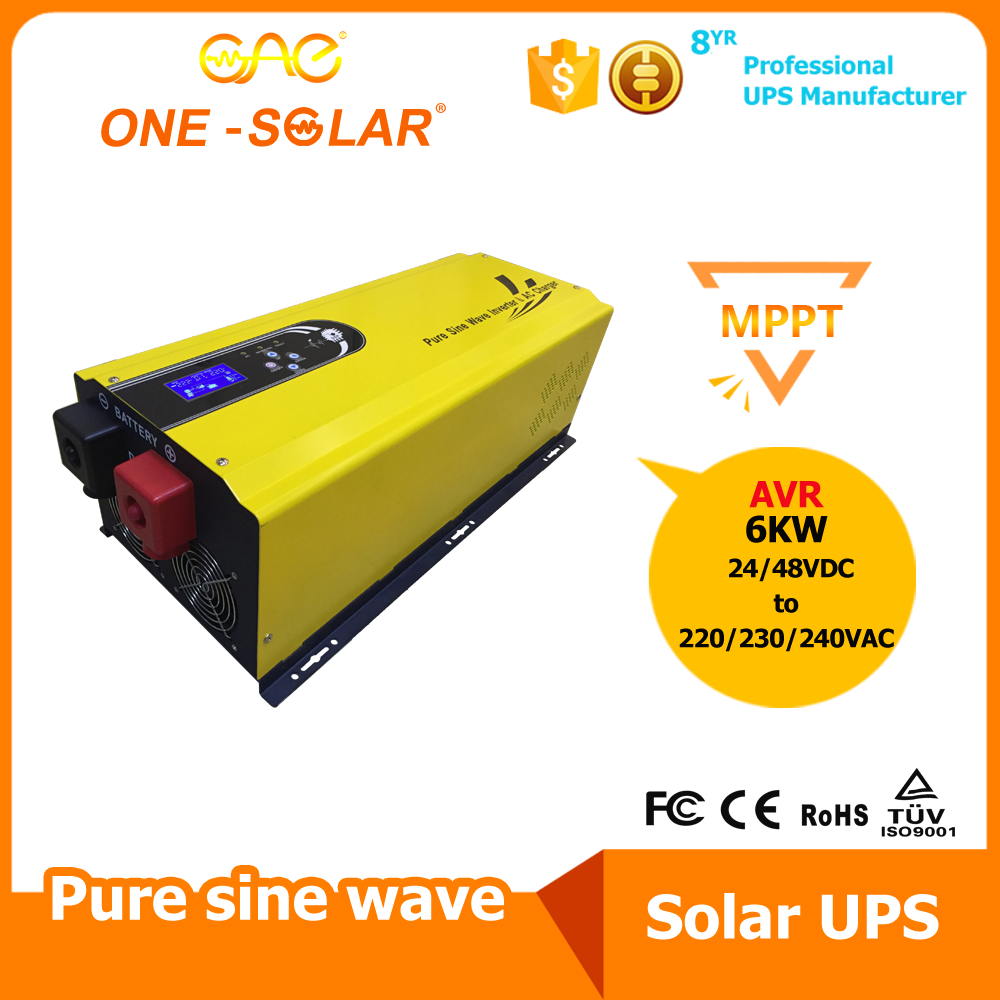 Gsi 6000w 48v Low Frequency Pure Sine Wave Solar Inverter With Built 300 Watts Pwm Controlled Circuit Output In Mppt